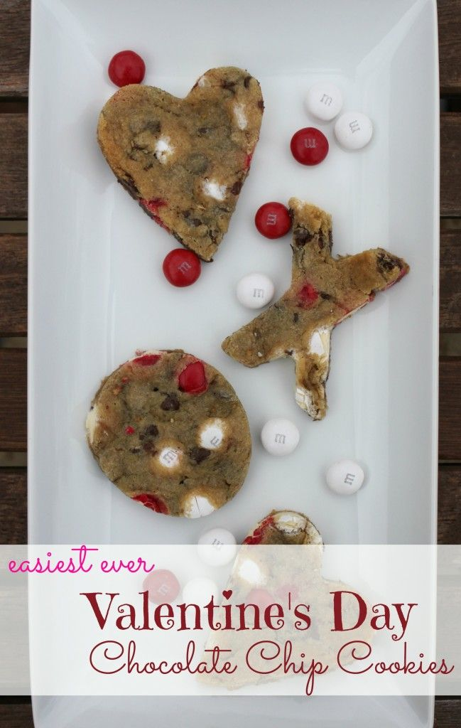 Easiest Ever Valentine's Day Chocolate Chip Cookies (2 ingredients - no one will guess your shortcut!) Get the recipe here: http://pandorasdeals.com/easiest-ever-valentines-day-chocolate-chip-cookies/