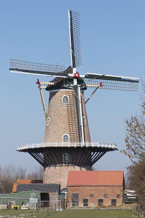 Flour mill De Korenhalm, 's-Gravenpolder, the Netherlands