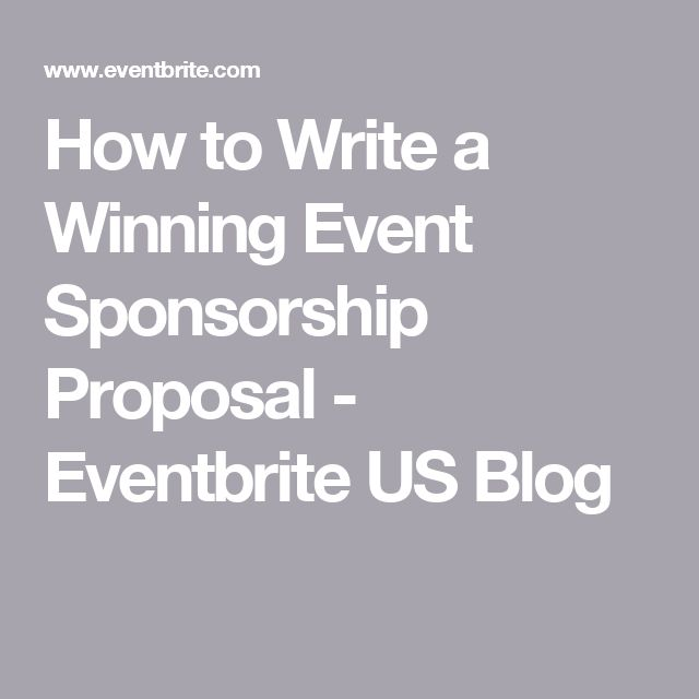 How To Write A Winning Event Sponsorship Proposal