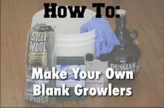 Make a Blank Growler: How To Remove Printed Labels from Glass Growlers