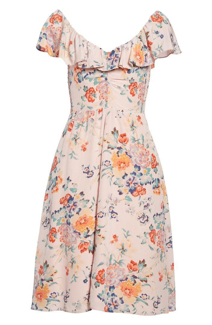 Main Image - Rebecca Taylor Marlena Ruffle Silk Dress