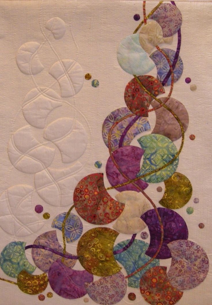 Balancing Act by Linda Forey.  Contemporary art quilt, 2014 Festival of Quilts (UK), photo by Queenie Patch