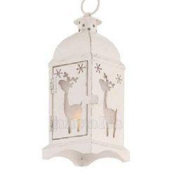 A sweet Christmas decoration!  LED lantern that won't burn you, yet charmingly lit :)