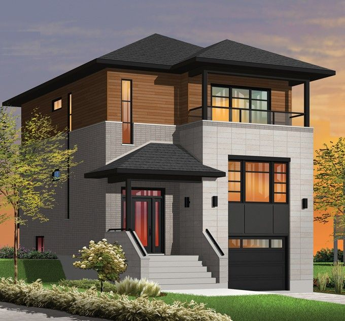Contemporary-Modern House Plan with 1883 Square Feet and 3 Bedrooms from Dream Home Source | House Plan Code DHSW076339