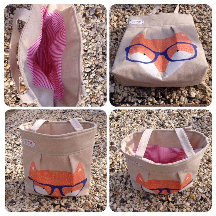Foxie Small Tote Bag. Fully lined. Made from up cycled Cotton On charity bag. $15. Available while stocks last, you chose the lining colour. Also available with interior pockets and shoulder strap. $25.