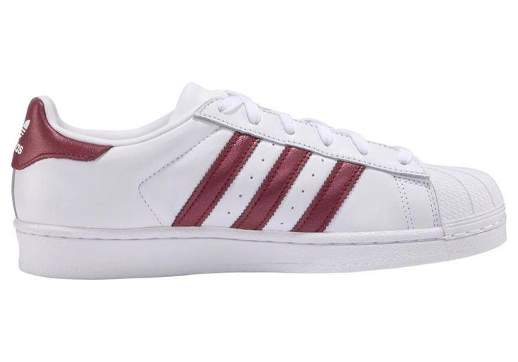 ADIDAS ORIGINALS Sneaker 'Superstar' Damen, Bordeaux Weiß
