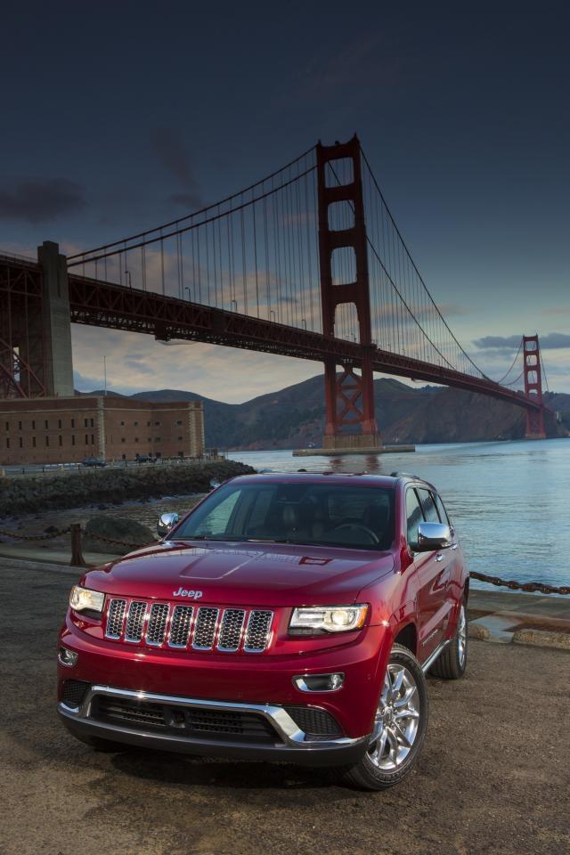 ♂ Red car - 2014 Jeep Grand Cherokee golden gate bridge san francisco #ecogentleman