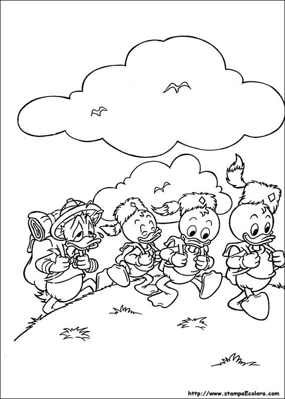 Scrooge McDuck Coloring Pages For Kids Printable Free