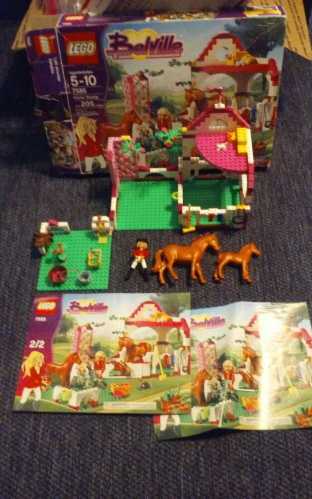Lego Friends Belville 7585 Equestrian Horses With Manuals Box Rare