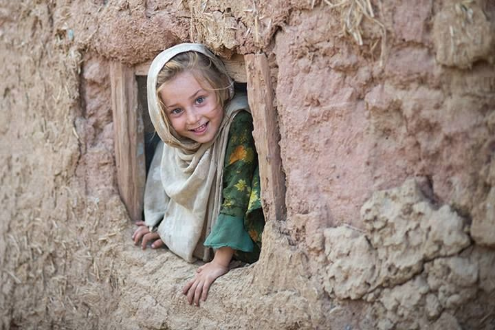 Afghan refugee girl