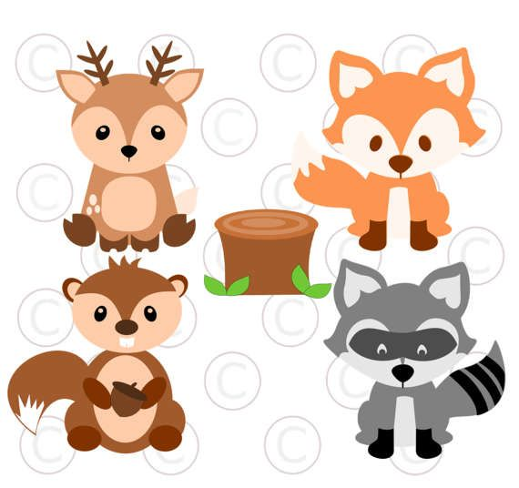 Cute Baby Woodland Forest Animals Svg Cut Files Deer Cut
