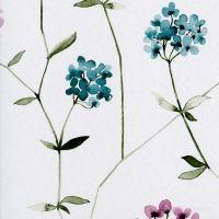 Blå & lilla blomster tapet