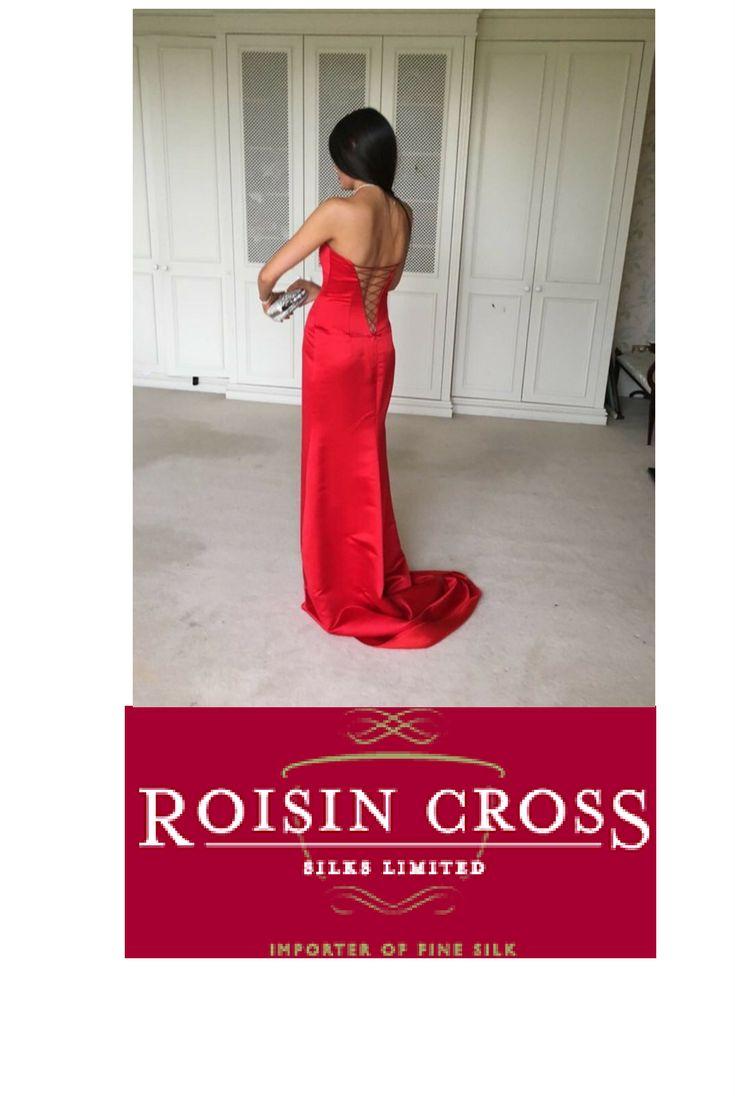 Valentino Red Silk Brocade