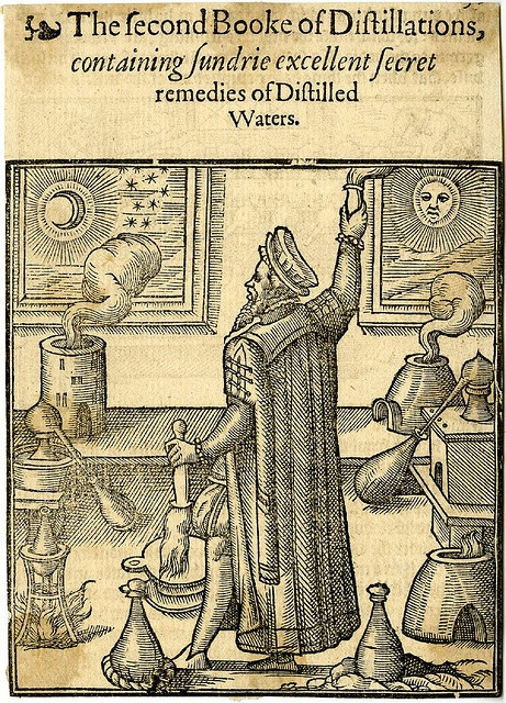 Alchemy: Conrad Gesner, The Practise of the New and Old Phisicke, 1599. An #Alchemy artwork.