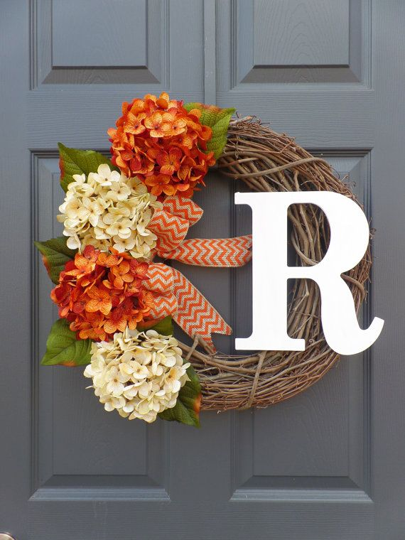 fall wreath, monogram wreath, grapevine wreath, burlap wreath, home decor.rustic.wedding decor.handmade