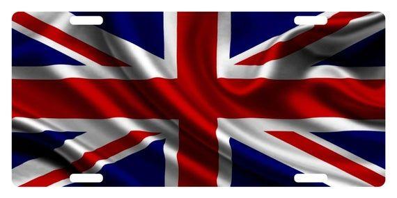 United Kingdom Uk Flag Custom License Plate Union Jack Emblem Etsy England Flag Uk Flag Uk Flag Wallpaper