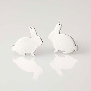 buddy bunny stud earringsDesign Inspiration, Bunnies Studs, Bunnies Doodads, Stud Earrings, Earrings Design, Studs Earrings, Buddy Bunnies, Bunnies Earrings, Bunnies Stuff