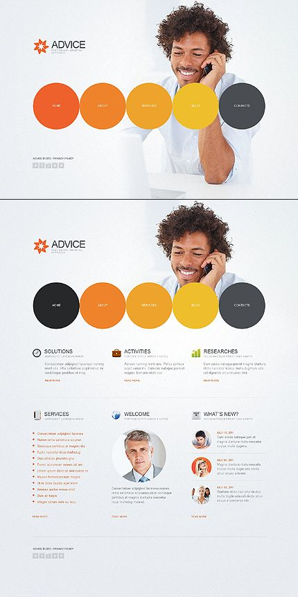 Template 44787 - Business Flash CMS Template
