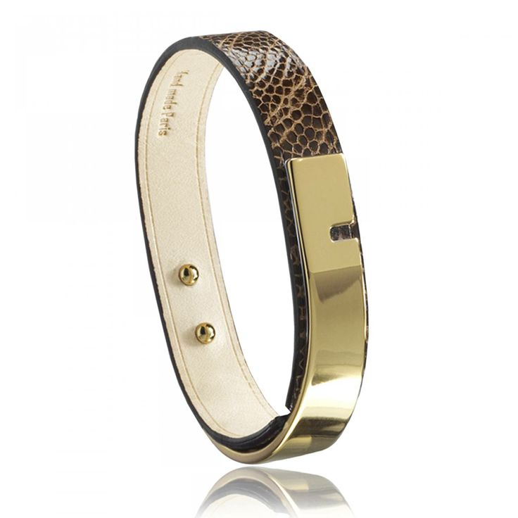 Ladies polished U-Turn chocolate bracelets - Ursul
