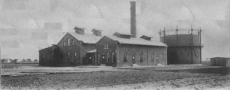 Gazownia, zdjęcie z początku XX wieku