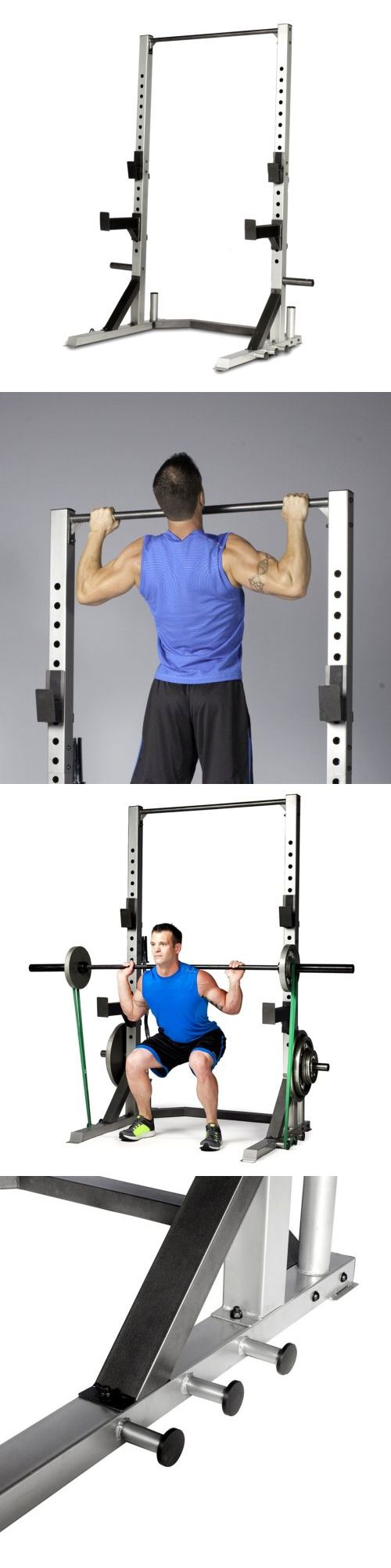 Power Racks and Smith Machines 179815: Strength Power Lifting Rack Weight Stand Squat Fitness Pull Up Bench Press Cage -> BUY IT NOW ONLY: $240.77 on eBay!