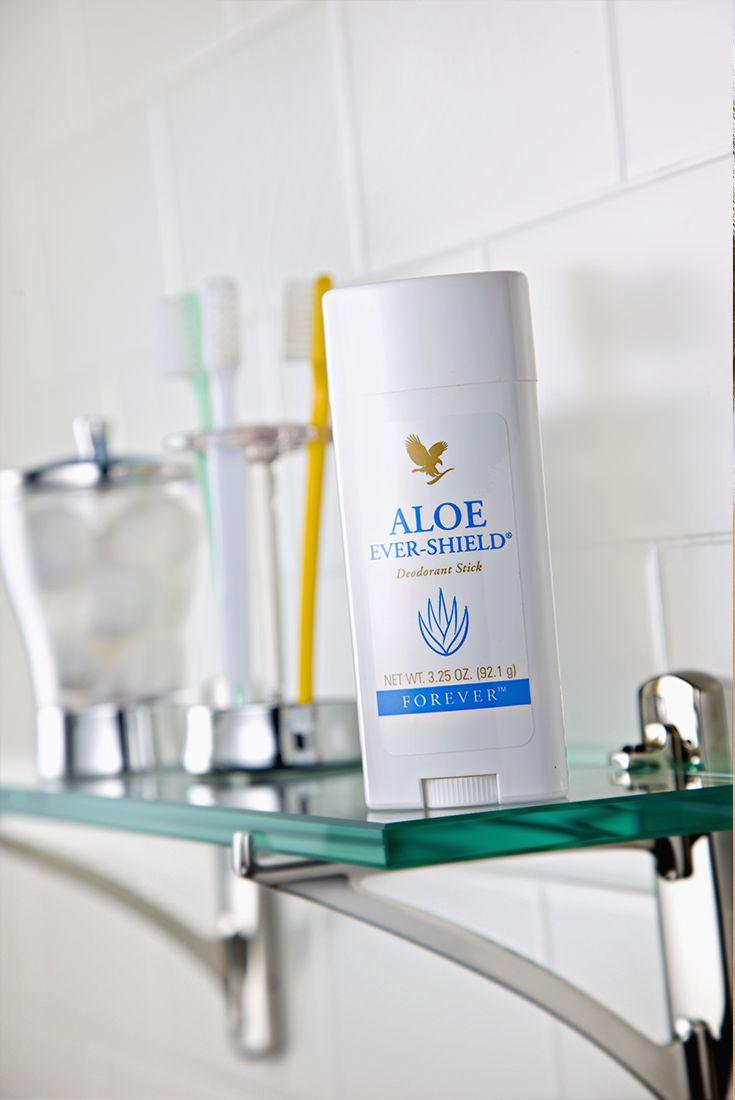 Aloe Ever-Shield è un pratico stick deodorante che offre una protezione efficace e di lunga durata contro i cattivi odori. Il prodotto, gradevolmente profumato, è un delicato composto di Aloe vera che non contiene sali d'alluminio. Aloe Ever-Shield non lascia macchie sugli indumenti. Contenuto 92,1 gr (art. 67)