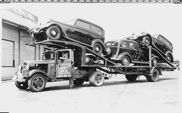 1934 Chevrolet 3-car carrier by PAcarhauler, via Flickr