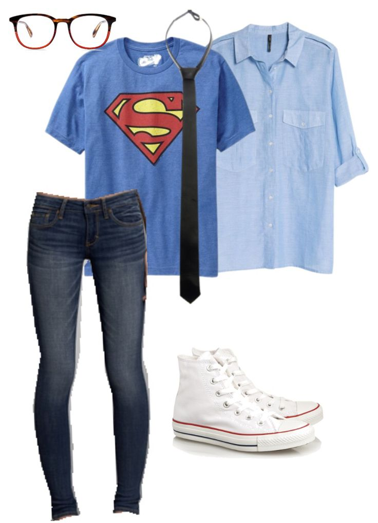 easy Halloween costume , cheap costume , clark Kent costume , superman costume