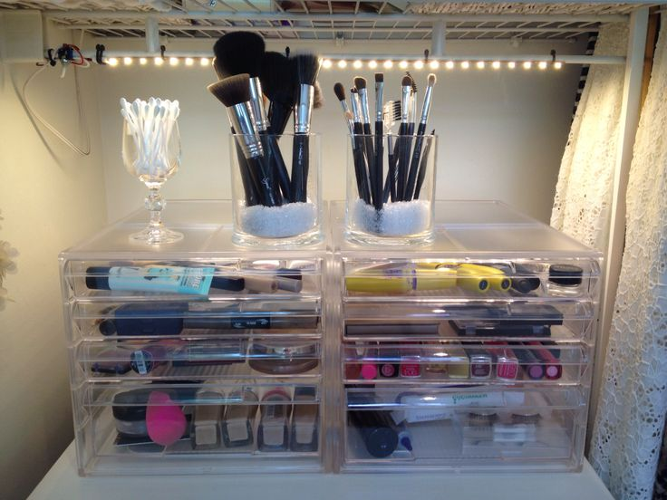 How I store my makeup. Makeup storage drawers