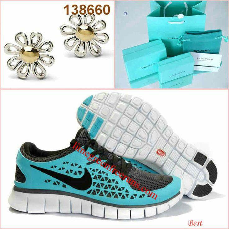 Cheap Nike Free Run Womens Tiffany Blue Black Flower Tiffany CO Earring(2013tiffany.com)
