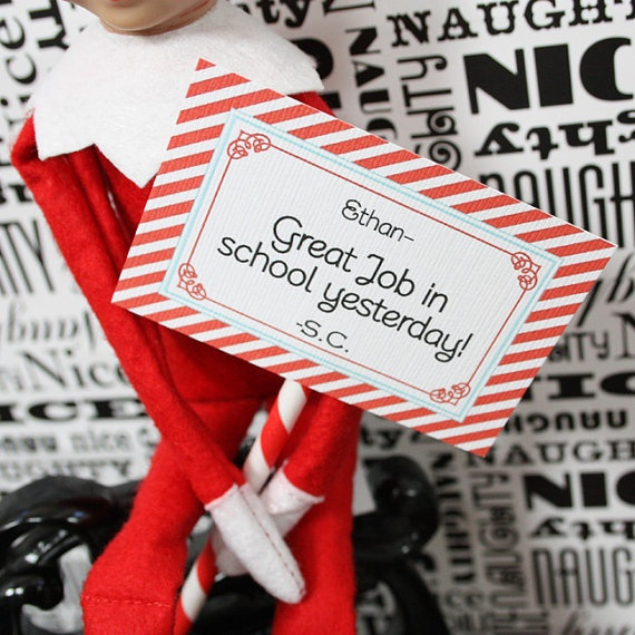 "Love the idea of the elf having notes for the kids.  Like this better than all the ""naughty elf"" stuff."