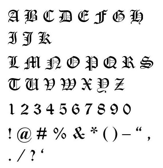 1000 Ideas About Old English Font On Pinterest Old
