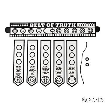Color Your Own Armor Of God Belt,