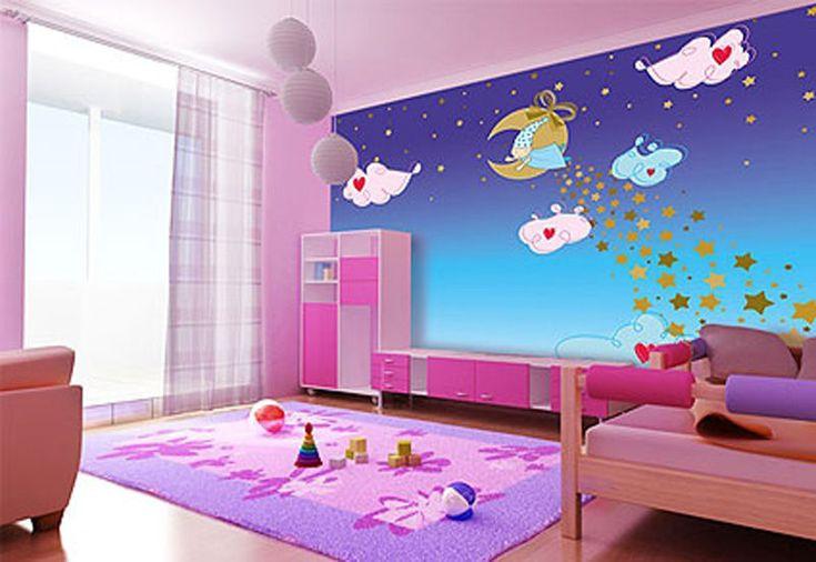 Потолок натяжной сатин в интерьере детской комнаты