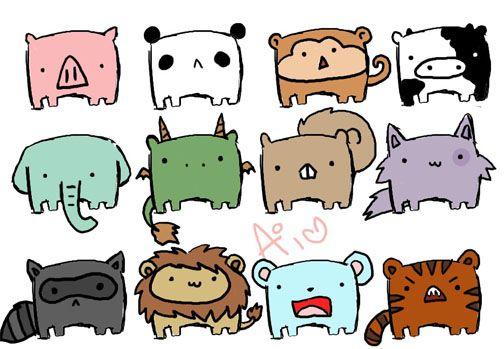 kawaii easy chibi animals cute | Chibi | Pinterest | Chibi ...
