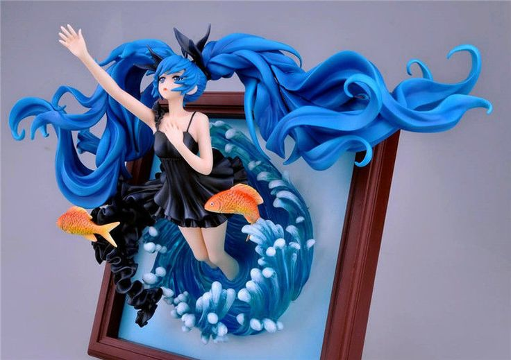 Anime Gift Vocaloid Hatsune Miku Deep SEA Girl ON Photo Frame 1 8 Scale Figure | eBay