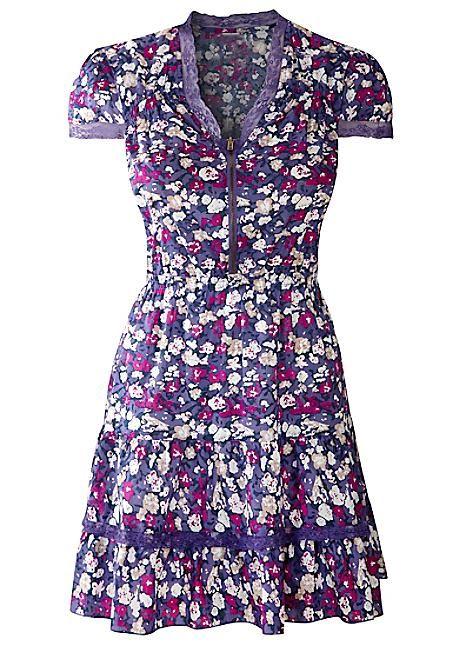 Floral Print Ra-Ra Dress