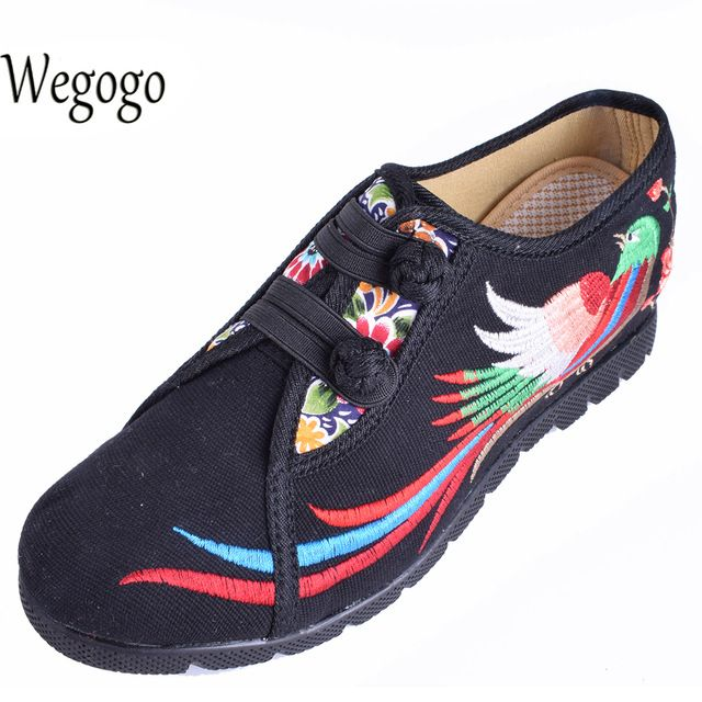 We love it and we know you also love it as well Wegogo Vintage Women Flats Shoes Embroidered Shoes National Increased Heeel Ladies Flats Shoes Sapato Feminino just only $18.04 with free shipping worldwide  #womenshoes Plese click on picture to see our special price for you