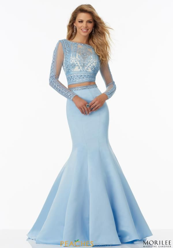 Two Piece Fitted Mori Lee Dress 99029