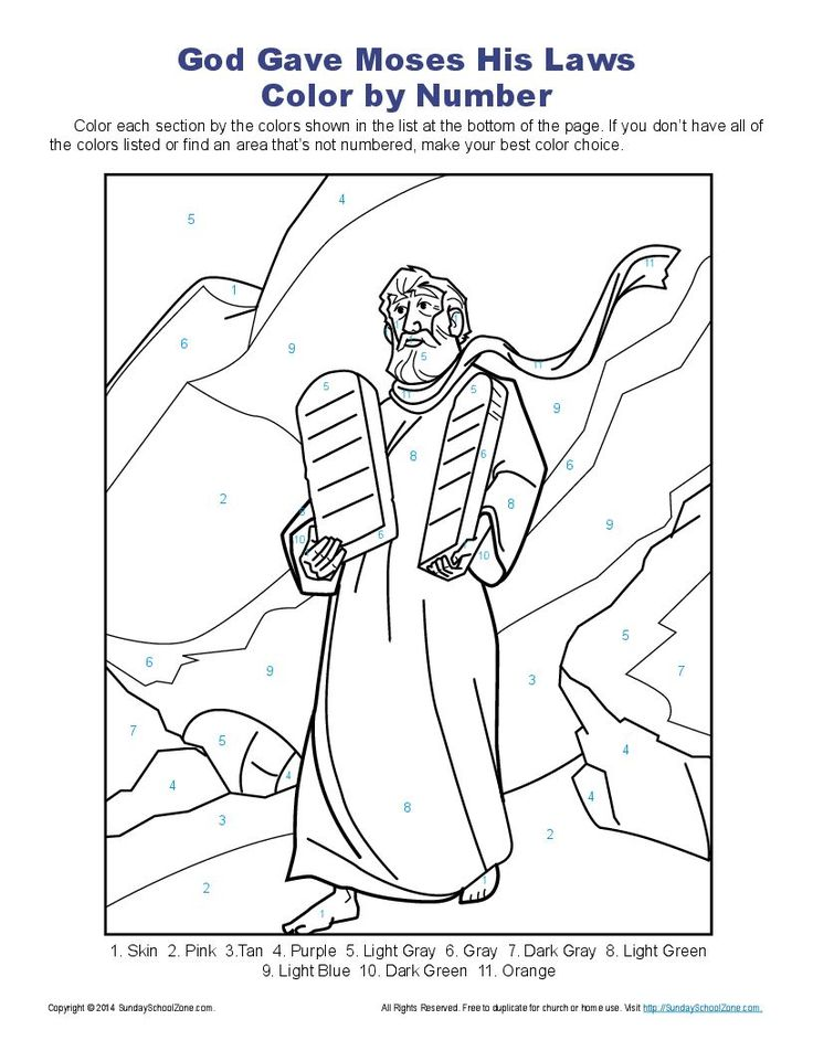coloring pages ten commandments - photo#22
