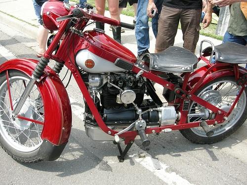 Red Nimbus Motorcycle