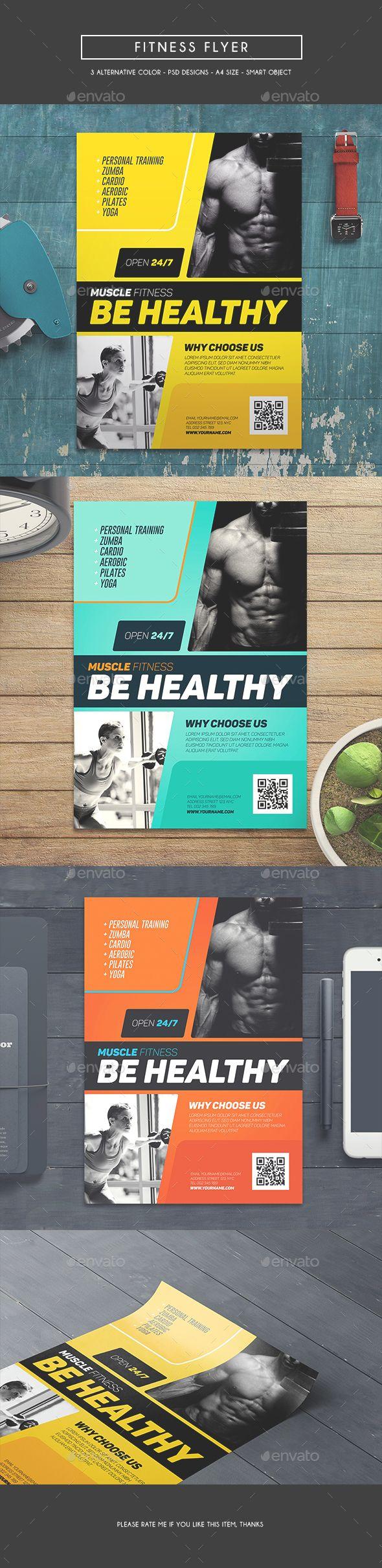 Fitness Flyer Template PSD. Download here: http://graphicriver.net/item/fitness-flyer/16858125?ref=ksioks