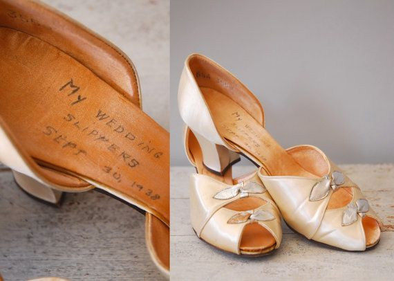 1938 Wedding Shoes / My Wedding Slippers / by wildfellhallvintage