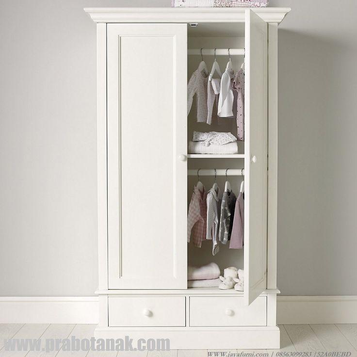 Lemari Pakaian Anak 2 Pintu Minimalis Putih JualLemari Pakaian Anak 2 Pintu Minimalis Putih ini kamimenawarkan lemari pakaian 2 pintu kepada bunda dengan