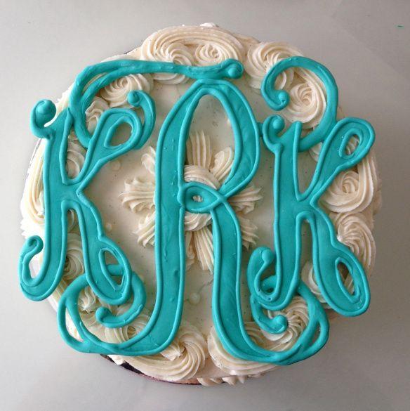 Monogram Cake - how adorable?