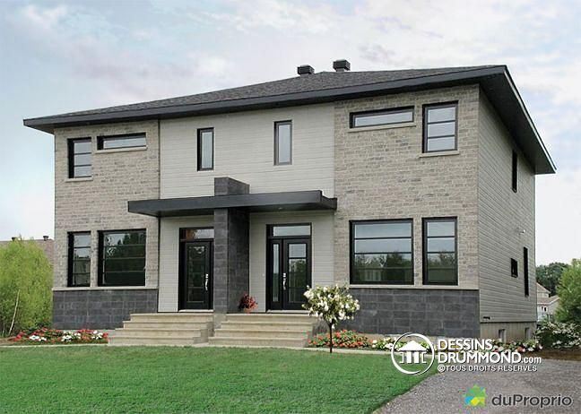 59 best Modèles de maison Jumelée, Plans de Duplex, Plans de Triplex - Modeles De Maisons Modernes