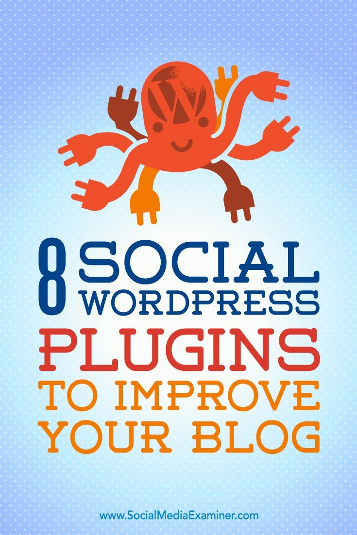 Do you want to make your WordPress blog more social media-friendly?  WordPress plugins are simple to install and make it easy for you to incorporate socially focused functionality on your blog.  In this article, youll discover eight plugins to socialize