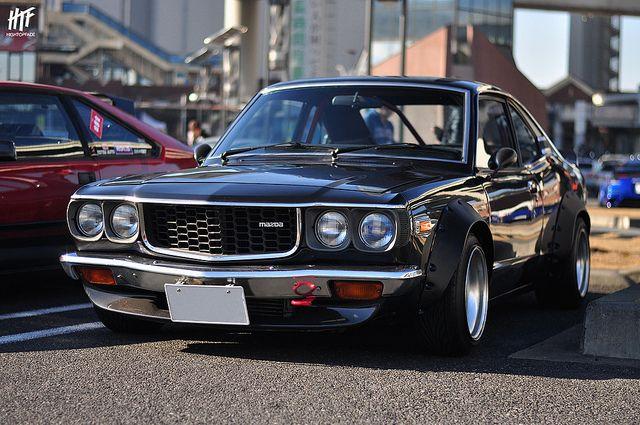 マツダ RX-3 サバンナ // JCCA ニューイヤーミーティング & 大黒ふ頭PA Mazda RX-3 Savanna //