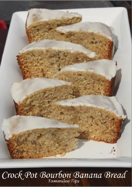 Crock Pot Bourbon Banana Bread
