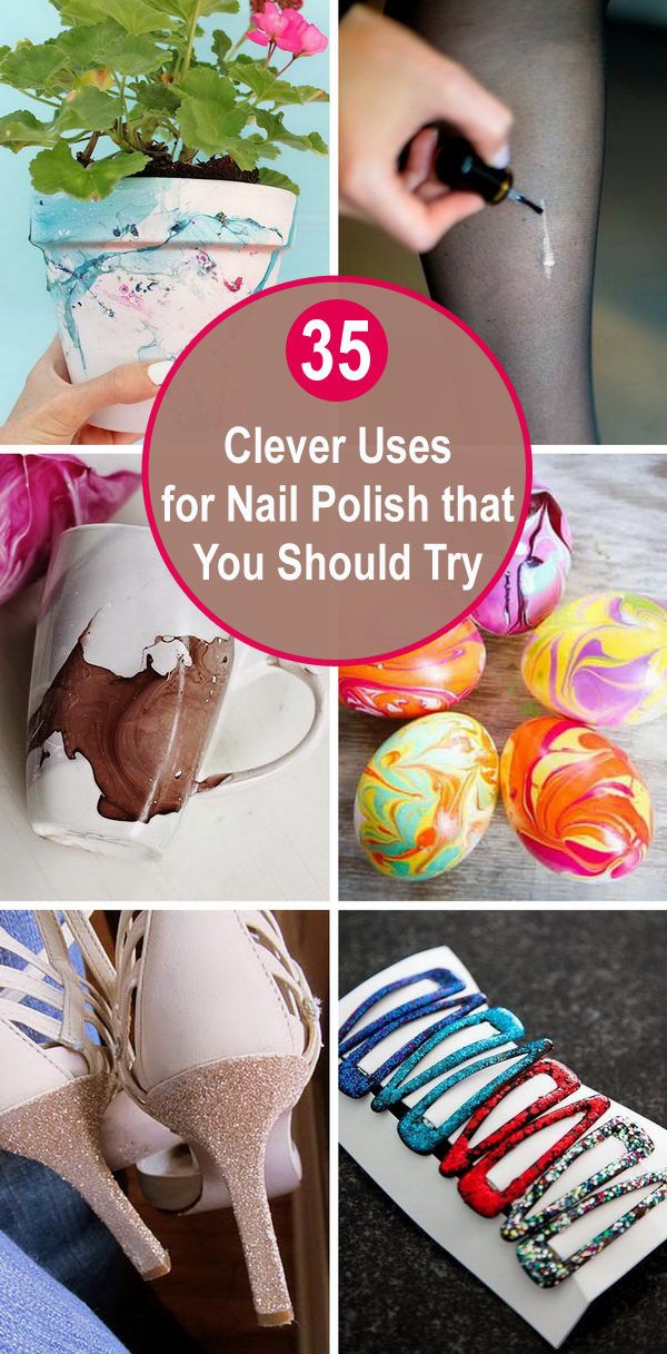 35 Clevere Anwendungen für Nagellack, die Sie 2019 ausprobieren sollten – Arts & Crafts